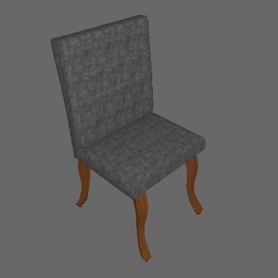 Cadeira Leonardo Da Vinci I Capitonê Linho Chumbo - Mobly