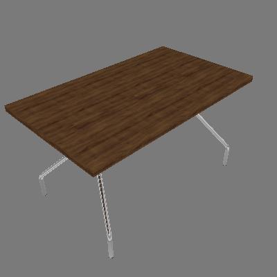 Mesa de Cozinha Retangular Native e Cromada 136 cm - Carraro