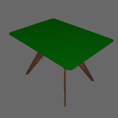 Mesa de Jantar Retangular Cleo Incolor e Café 90 cm - Brigatto