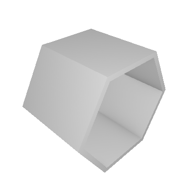 Nicho Hexagonal Favo Branco e Marrom Médio - Máxima Móveis