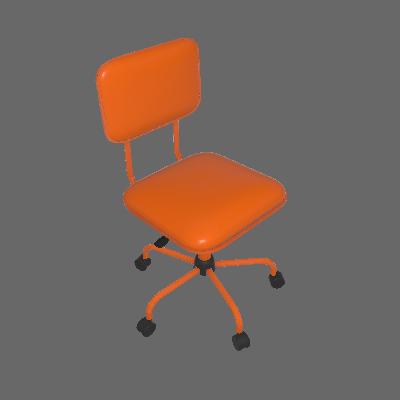 Cadeira de Escritório Giratória Color Pistão a Gás Corano Laranja - Mobly