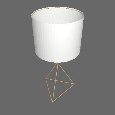 Abajur Aramado II  Dourado e Branco - Auremar