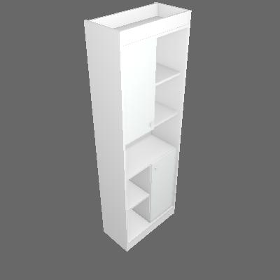 Estante Home Office 2 PT Branca 60 cm - Hecol