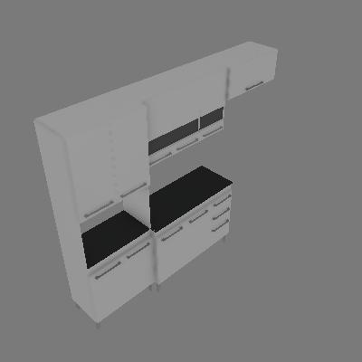 Cozinha Compacta Alice 10 PT 3 GV Branco - CHF Móveis