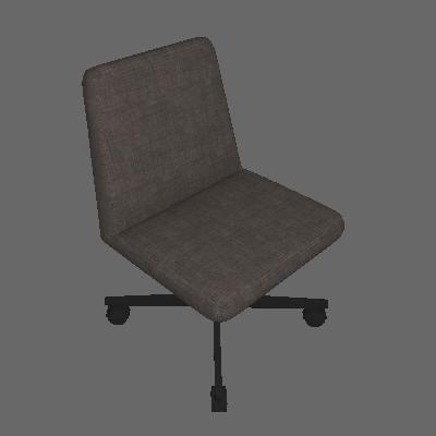 Cadeira de Escritório Interlocutor Office Estofada Chumbo - Daf