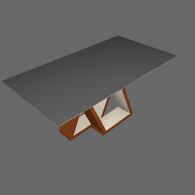 Mesa de Jantar Retangular Belle Chocolate e Off White 170 cm - Cel Móveis