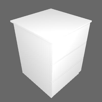 Conjunto com 2 Mesas de Cabeceira Veronna 3 GV Branca - Tcil