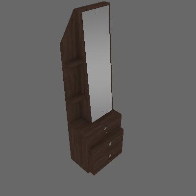 Penteadeira Vertical com Espelho Advance 3 GV Castanho