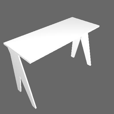 Mesa de Escritório Magnólia Branca - Falkk