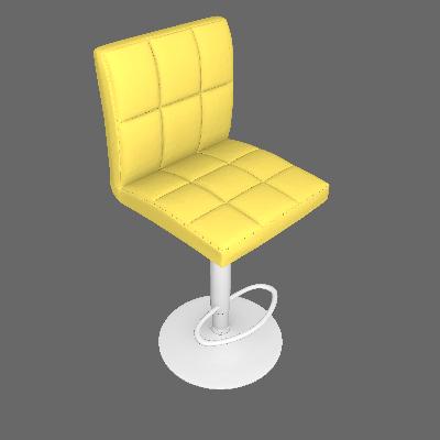 Banqueta Gomo Amarela - Or Design