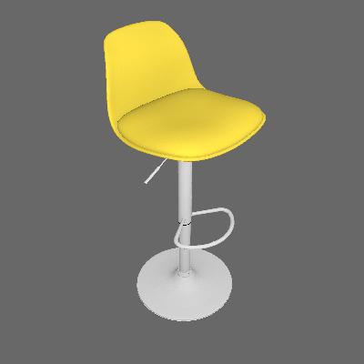 Banqueta Lumen Amarela - Or Design