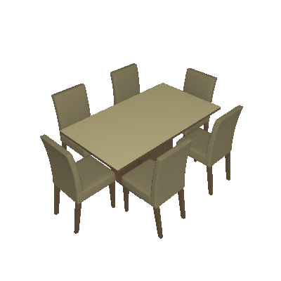 Conjunto de Mesa com 6 Cadeiras Vivere Rustic e Saara - Madesa