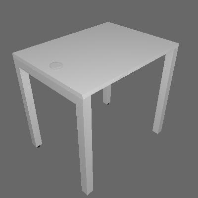 Mesa Individual com Passa Fio