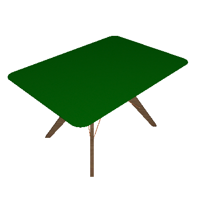 Mesa de Jantar Retangular Cleo Incolor e Freijó 100 cm - Brigatto