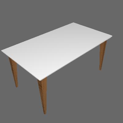 Mesa de Jantar Retangular Olivia Branco 160cm - Daf