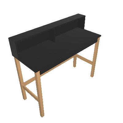 Escrivaninha Lenoir Preta - BRV Móveis