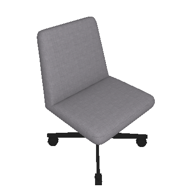 Cadeira de Escritório Interlocutor Office Estofada Cinza - Daf