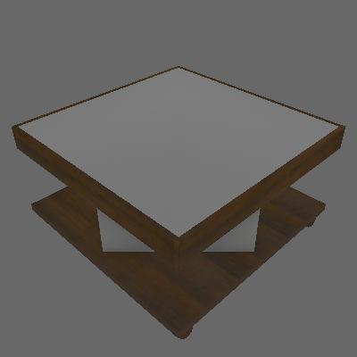 Mesa de Centro Quadrada Saara Pinho e Off White - Artely