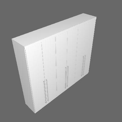 Guarda-Roupa Casal Premium 6PT Neve - Tcil
