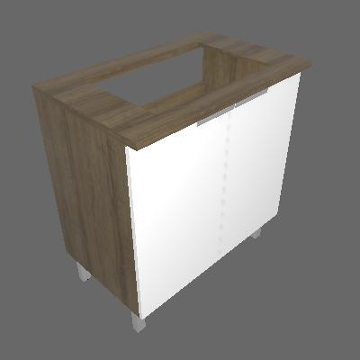 Balcão para Cooktop de 4 Queimadores com 02 Portas (BALC 2PT COOK4Q)