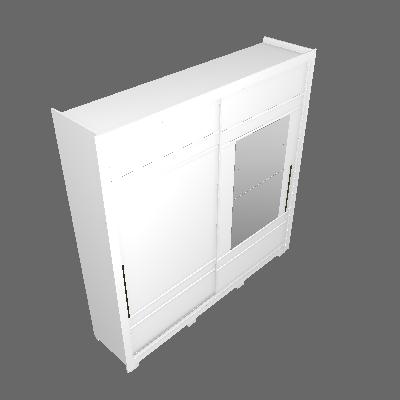 Roupeiro Delicato 02 Portas Deslizantes (D208)