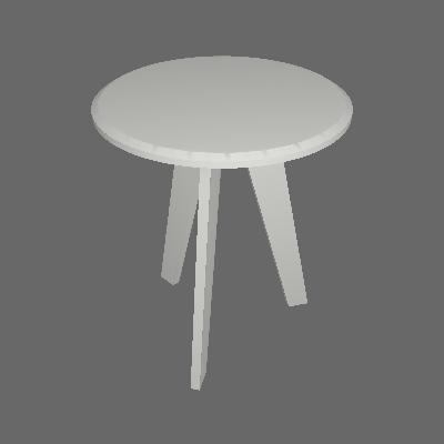 Conjunto com 2 Mesas Laterais Redondas Ellis Branco - Artely Móveis