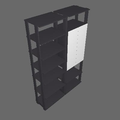 Guarda-Roupa Solteiro Modulado Clothes II com Espelho 2 PT Espresso - BE Mobiliário Inteligente