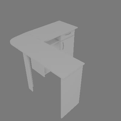 Mesa para Computador em L Union Branco - Multivisão