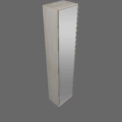 Roupeiro Espelho 503mm 1 Porta (47)