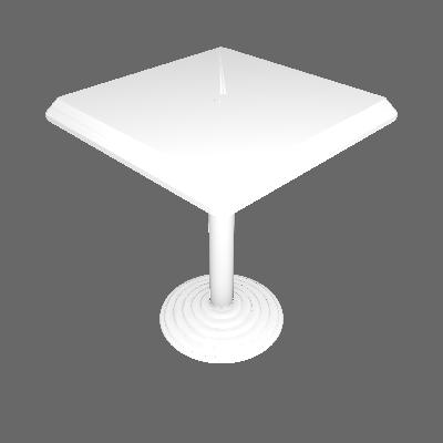 Mesa Plástica Quadrada Bistro Branca Dolfin - Dolfin