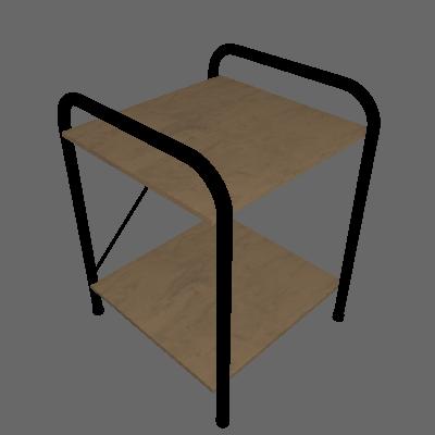 Conjunto com 2 Mesas de Cabeceira Madri Demolição - Artefamol