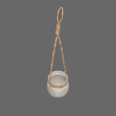 Vaso Cerâmica Rustic Natural Pequeno Cinza (89875142)