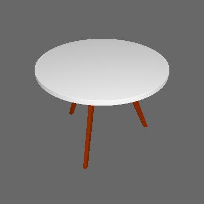 Mesa de Jantar Redonda Tóquio Branca e Mel 100 cm - Mobly