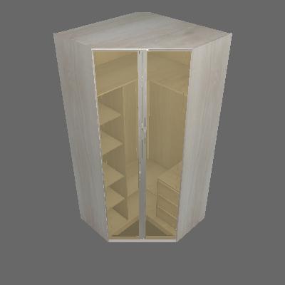 Roupeiro Canto Closet Reflecta 1119mm 2 Portas (21)