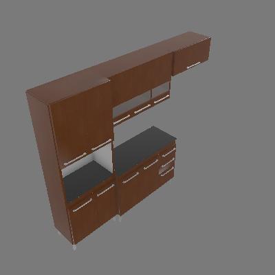 Cozinha Compacta Alice 10 PT 3 GV Caramelo - CHF Móveis