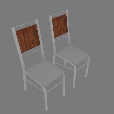 Conjunto com 2 Cadeiras Wos I Branco - Carraro