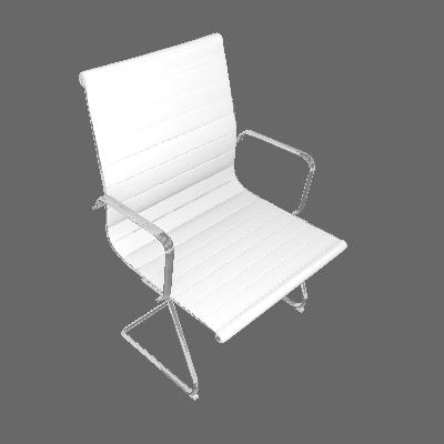Cadeira de Escritório Sevilha Fixa Branca - Rivatti