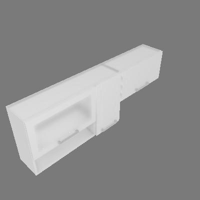 Combo Aéreo 03 Portas 1 Vidro + Nicho (CA175-3P-1V+N)