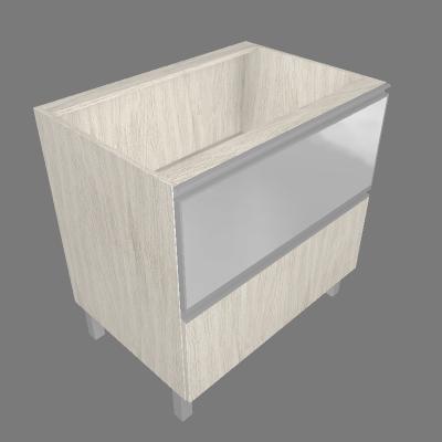 Balcão 80cm 01 Gaveta e 01 Porta Basculante de Vidro Mini Boreal