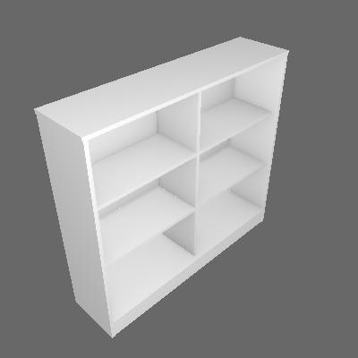Estante Home Office Branca 120 cm - Hecol