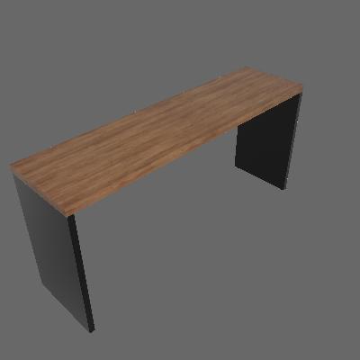 Mesa para Notebook Natus Preta e Ameixa 160 cm