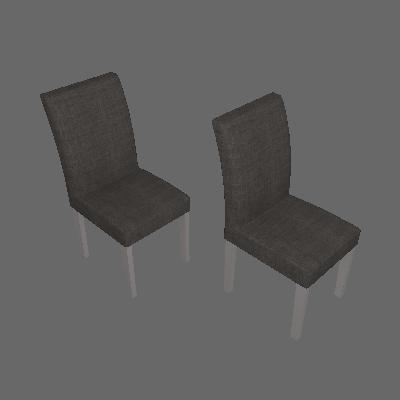 Conjunto com 2 Cadeiras de Jantar Olímpia Linho Branco Linho Cinza - Leifer
