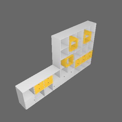 Estante Multifuncional Dominox Amarelo e Branco - Belmax