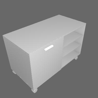 Rack Compaq Branco 90 cm - Mobly
