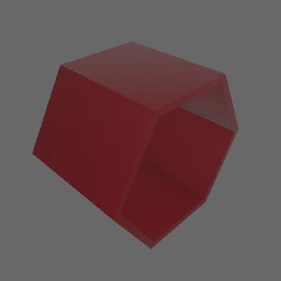 Nicho Hexagonal Favo Bordo - Máxima Móveis