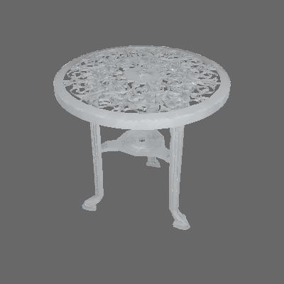 Mesa de Plástico Redonda Colonial Polipropileno Branca Antares - Antares