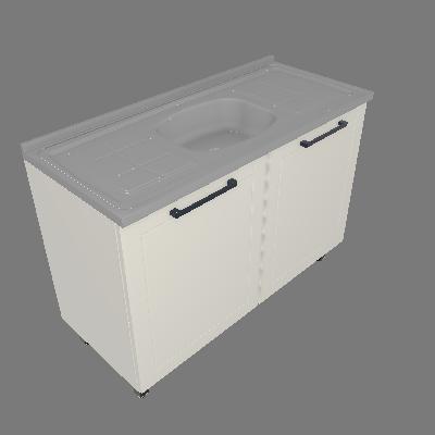 Gabinete 02 Portas com Pia (G120-2P-PIA)