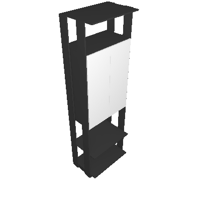 Armário Clothes com Espelho 2 PT Espresso - BE Mobiliário Inteligente