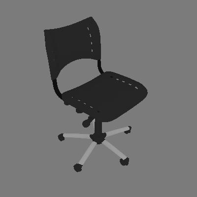 Cadeira de Escritório Secretária Giratória Evidence Comada e Preto - Absolut