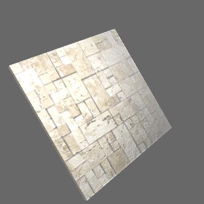 Mosaico Corália Travertino Bege 28x28cm Artens (89742604)